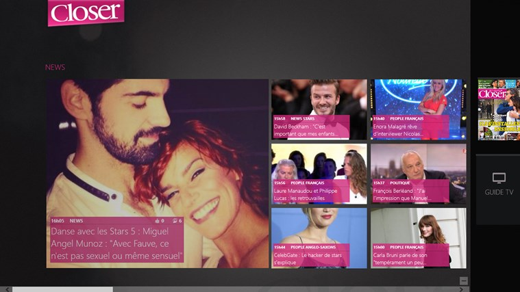 Closer - Les News People en Live capture d'écran 0