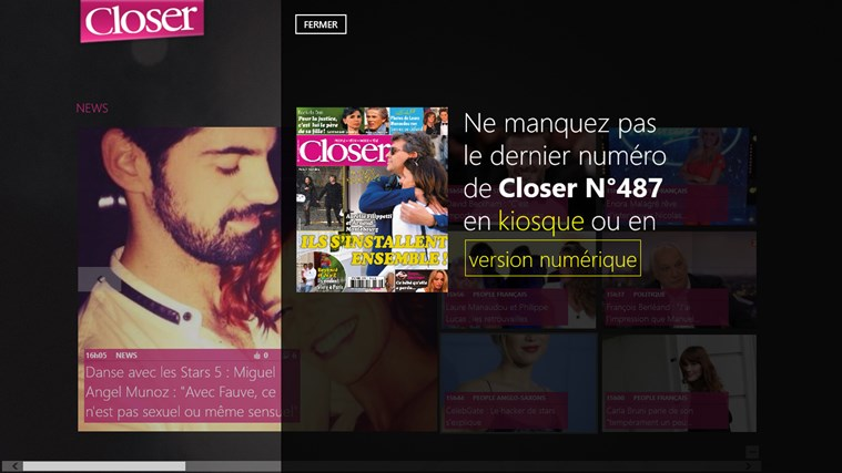 Closer - Les News People en Live capture d'écran 2