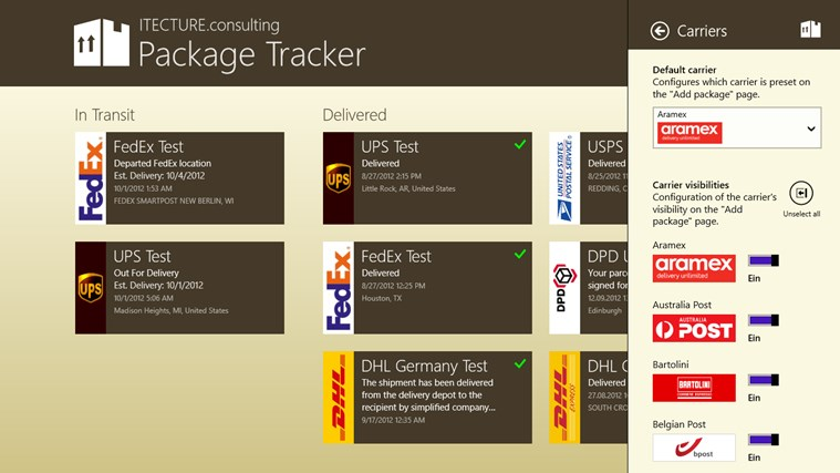Package Tracker screen shot 6