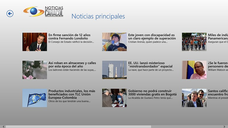 Noticias Caracol screen shot 2
