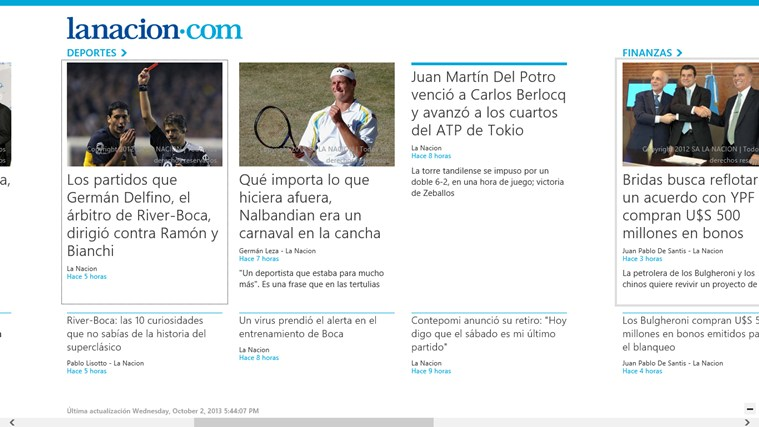 LA NACION screen shot 2