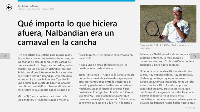 LA NACION screen shot 4
