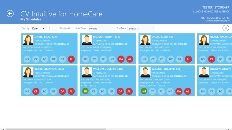 CV Intuitive for HomeCare screen shot 2