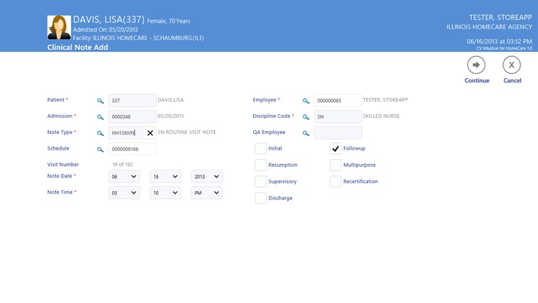 CV Intuitive for HomeCare screen shot 4