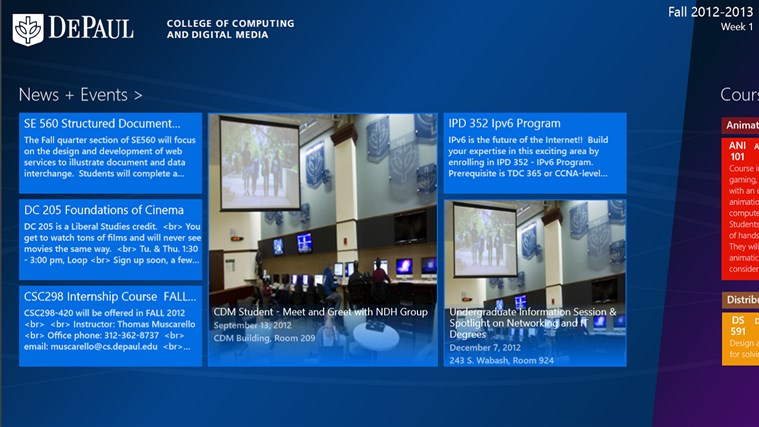 DePaul University CDM screen shot 2