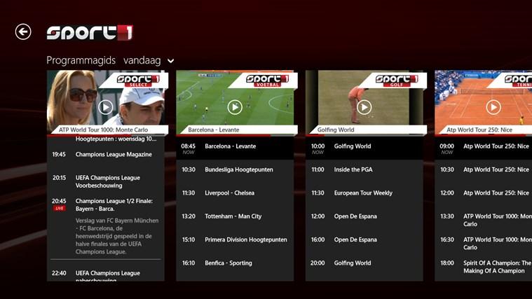 Sport1 schermafbeelding 4