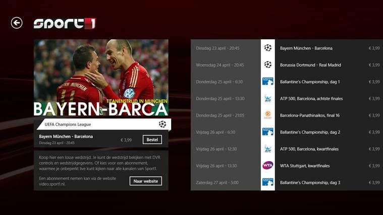 Sport1 schermafbeelding 6