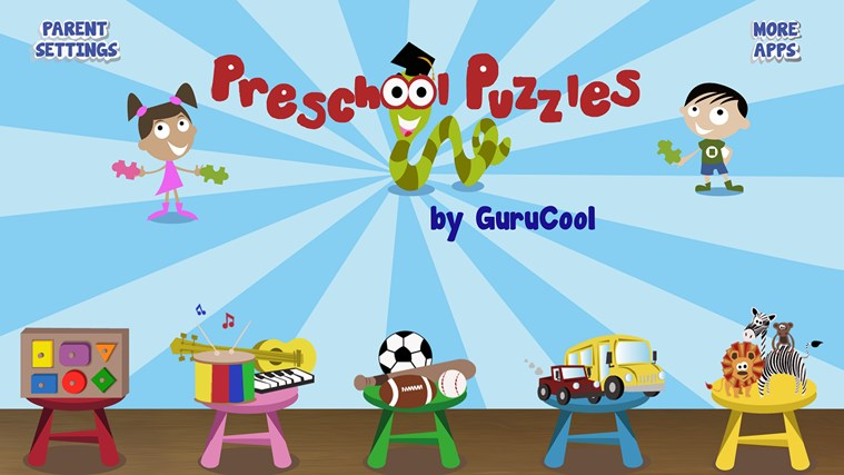 PreSchool Puzzles - Educational games for kids screen shot 0