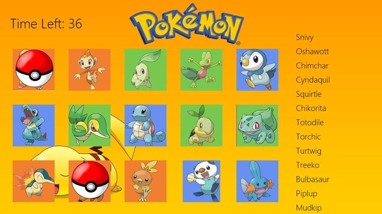 all the starter pokemon names