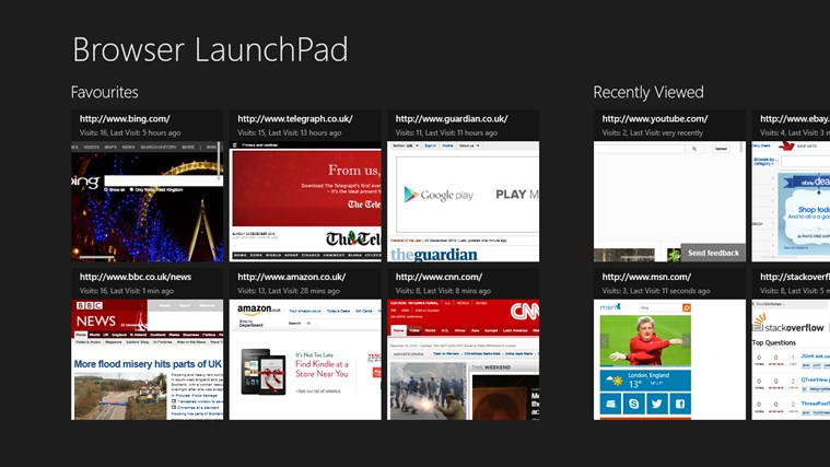 Browser LaunchPad screen shot 0