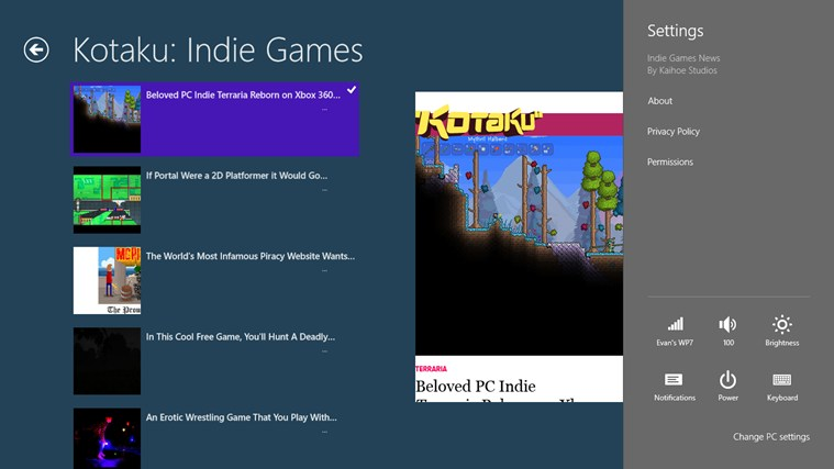 Indie Games News screen shot 2