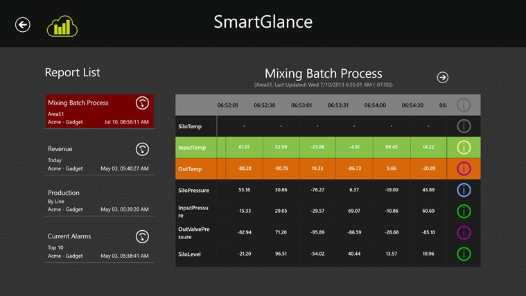 SmartGlance screen shot 2