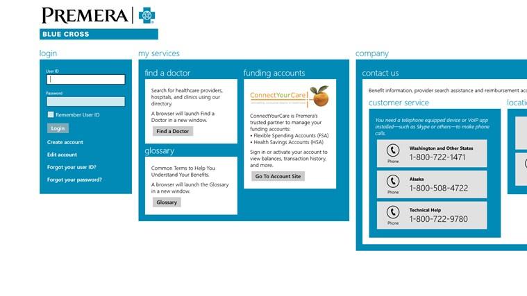 Premera Windows App screen shot 0