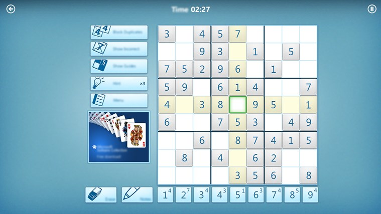 Microsoft Sudoku screen shot 0