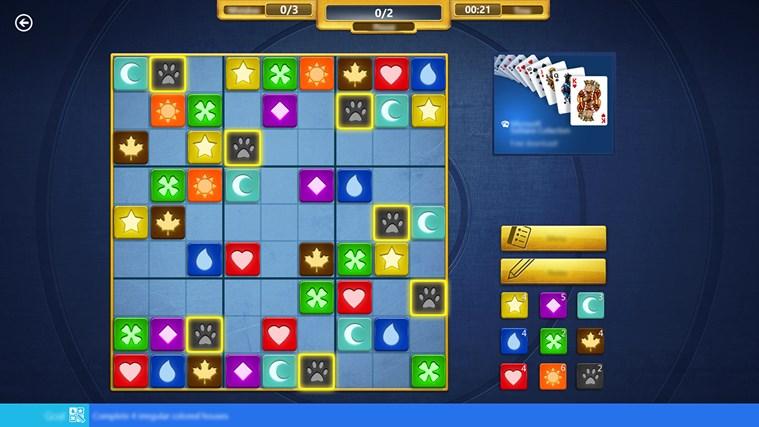 Microsoft Sudoku screen shot 2