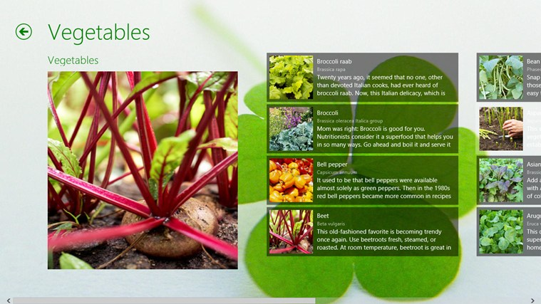 Plant Encyclopedia screen shot 2