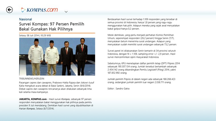 Kompas.com screen shot 4