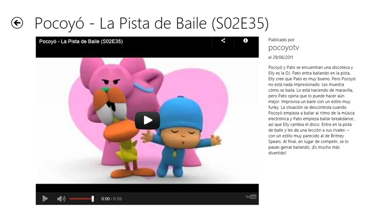 Pocoyo Videos captura de tela 2