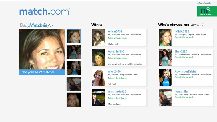 Match.com screen shot 0