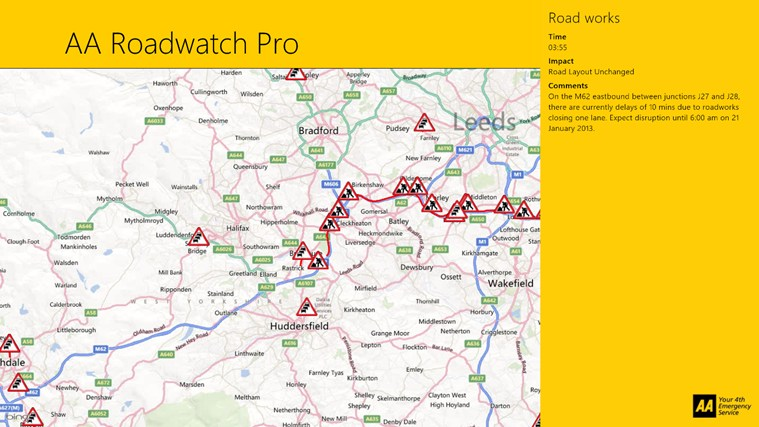 AA Roadwatch Pro screen shot 4