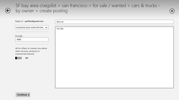 Craigslist+ screen shot 6