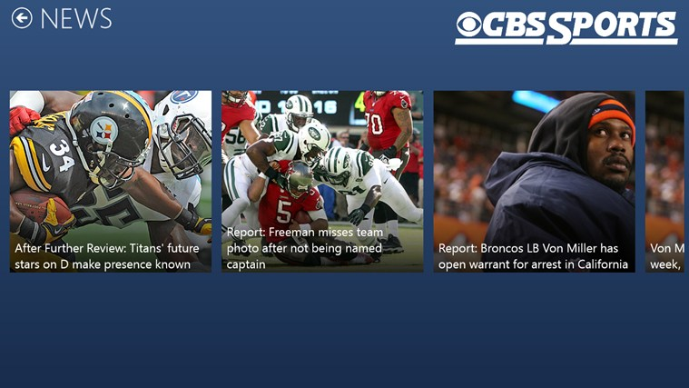 CBS Sports screen shot 2