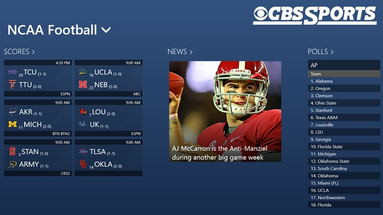 CBS Sports screen shot 6