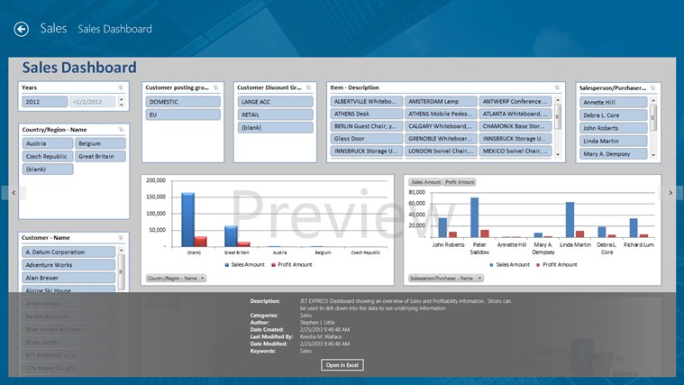 Jet Reports Player for Microsoft Dynamics® NAV screen shot 2