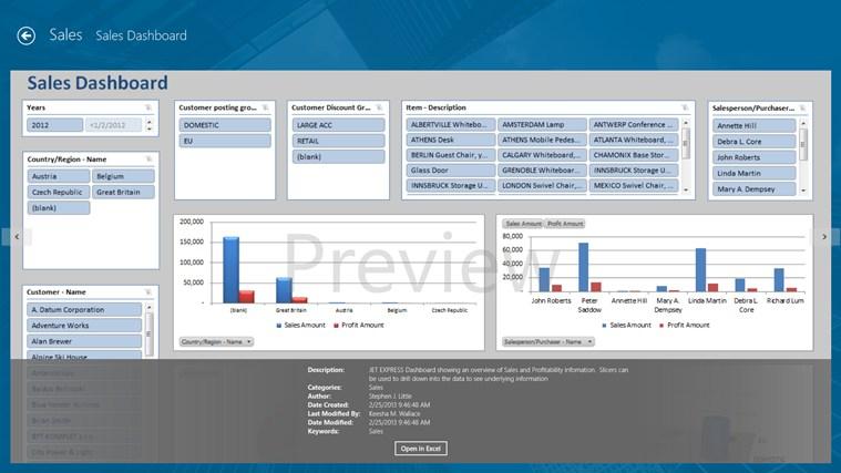 Jet Reports Player for Microsoft Dynamics® NAV screen shot 2
