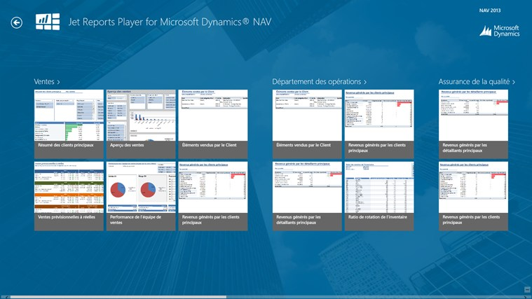 Jet Reports Player for Microsoft Dynamics® NAV capture d'écran 0