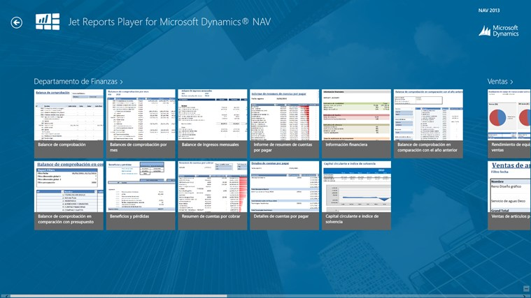 Jet Reports Player for Microsoft Dynamics® NAV captura de pantalla 0