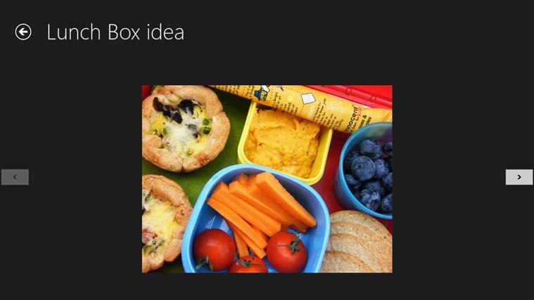 Lunch Box idea screen shot 2
