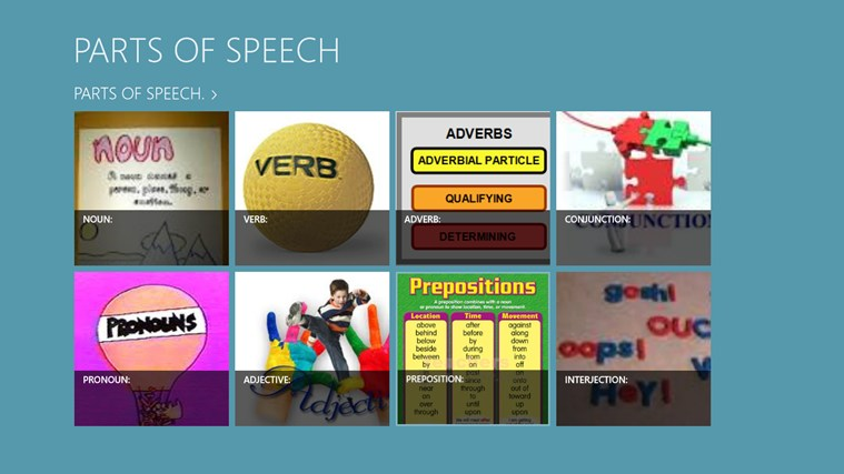The Parts of Speech. screen shot 0