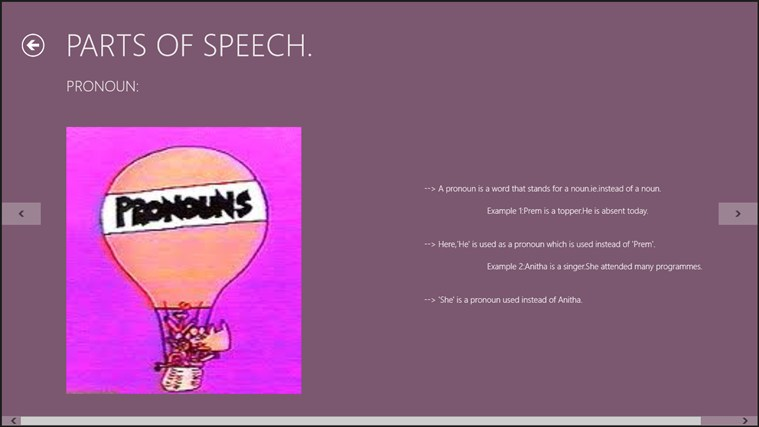 The Parts of Speech. screen shot 2