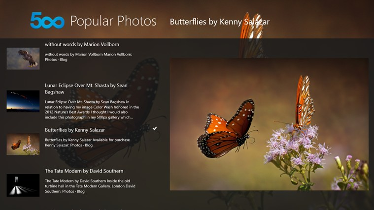 500px Popular Photos screen shot 0
