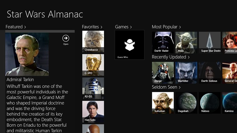 Star Wars Almanac screen shot 0