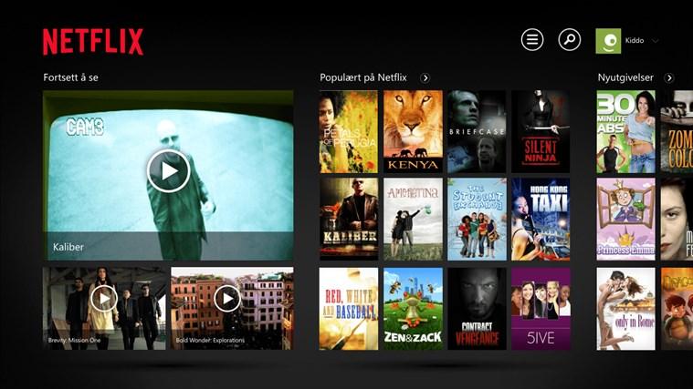 Netflix skjermbilde 0
