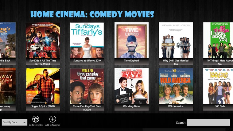 Home Cinema: Comedy Movies screen shot 0