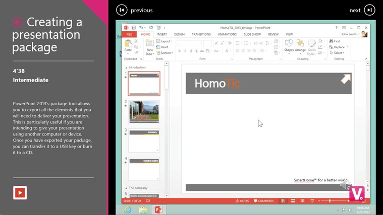 Training for PowerPoint 2013 by Vodeclic screenshot 2