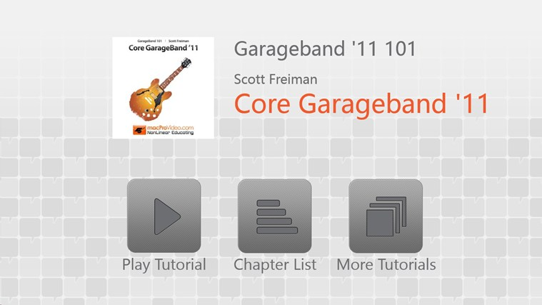 Learning GarageBand '11 screen shot 0