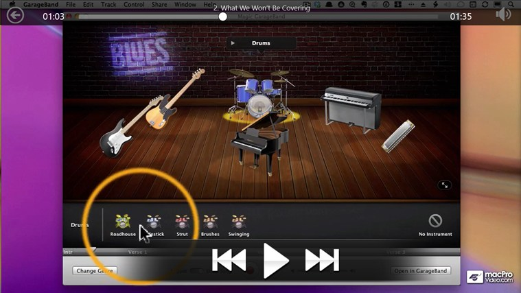 Learning GarageBand '11 screen shot 2