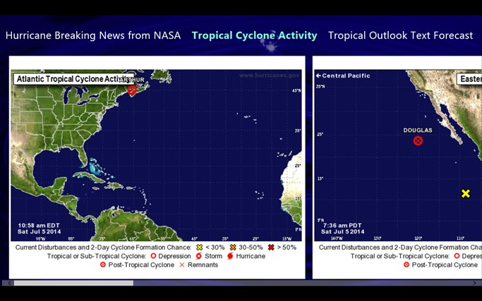 Hurricane and Tropical Storm Report screen shot 0