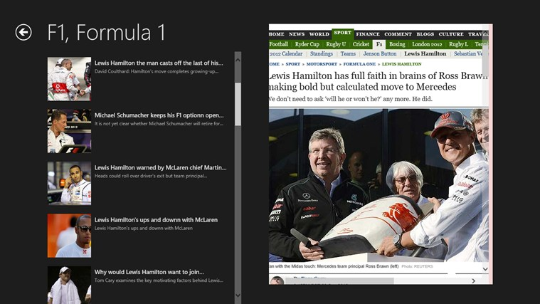 Formulla1 screen shot 6