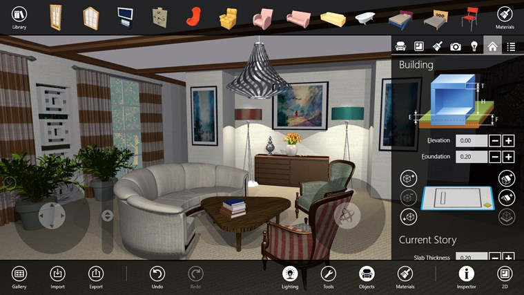 Live interior 3d pro app for windows in the windows store for Interior design decoration app