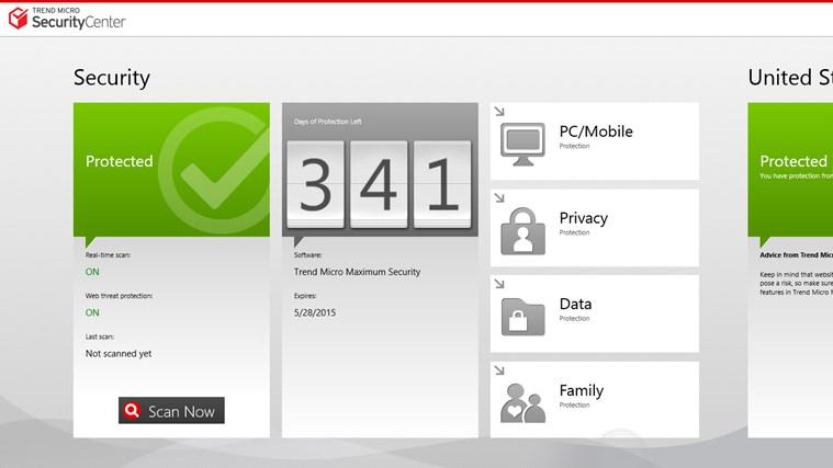 Trend Micro Security Center screen shot 0