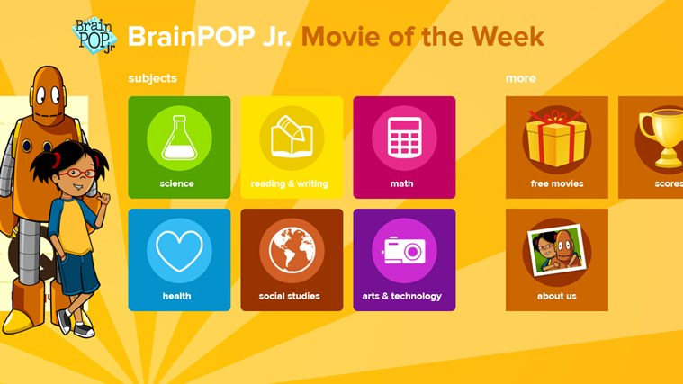 BrainPOP Jr. Movie of the Week screen shot 4