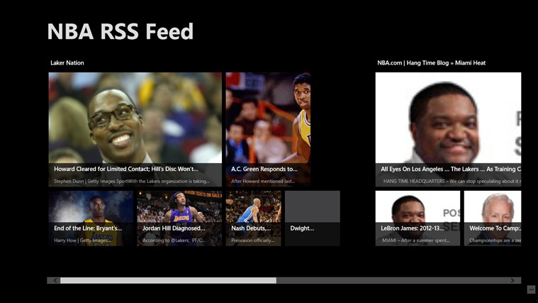 NBA RSS Feed screen shot 0