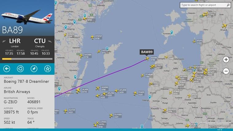 FlightRadar24-skärmbild 0