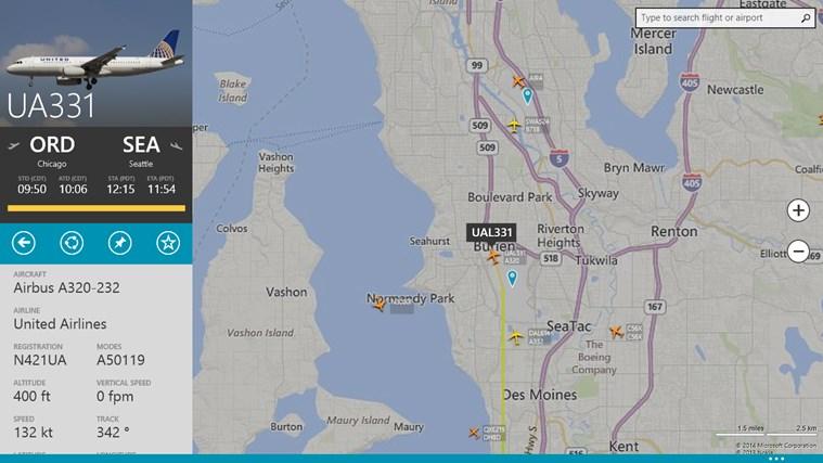 FlightRadar24 schermafbeelding 2