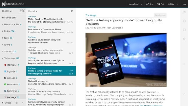 Nextgen Reader Screenshot 0